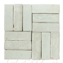 """Wintergreen"" Bejmat Zellige, a Moroccan Mosaic Tile, from Villa Lagoon Tile."