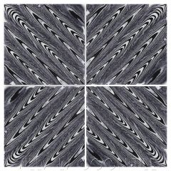 """""""Zebrawood Black and White"""" Free-Hand Cement Tile, by Villa Lagoon Tile."""