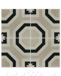 """Adams Primero"" Geometric Cement Tile, from Villa Lagoon Tile."