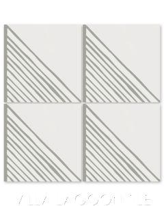 """Algiers Misty Gray"" Modern Geometric Cement Tile, from Dekar Design and Villa Lagoon Tile."