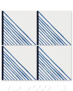 """Algiers Stone Blue"" Modern Geometric Cement Tile, from Dekar Design and Villa Lagoon Tile."