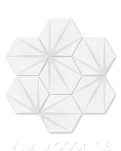 """""""Alley Dover"""" Geometric Hex Cement Tile, from Villa Lagoon Tile."""