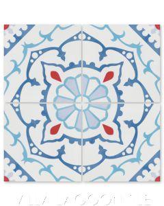 """Amalena Boardwalk"" Cuban Cement Tile, by Villa Lagoon Tile."