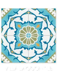 """Amalena Meadow"" Cuban Cement Tile, by Villa Lagoon Tile."