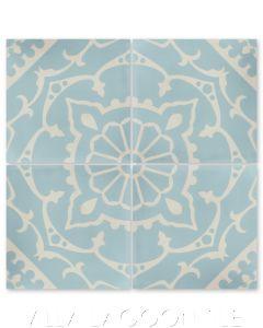 """Amalena Velvet Sky"" Cuban Cement Tile, by Villa Lagoon Tile."