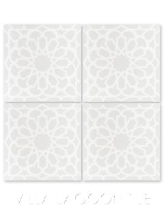 """""""Andalusia Petite Fog"""" Moroccan Cement Tile, from Villa Lagoon Tile."""