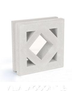 """Antilles"" Natural White Geometric Breeze Blocks, by Villa Lagoon Tile."