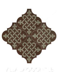 "Arabesque Classic ""Knot Primero"" Moroccan Lantern Cement Tile, from Villa Lagoon Tile."