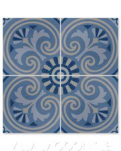 """Bolero Oleando"" Cuban Cement Tile, from Villa Lagoon Tile."