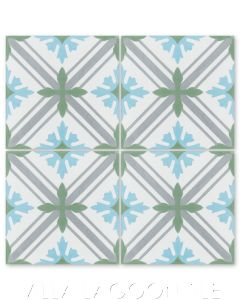"""""""Camille in the Alps"""" Traditional Cement Tile, from Villa Lagoon Tile."""