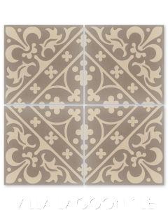 """Canterbury Sandstone"" Victorian Cement Tile, from Villa Lagoon Tile."
