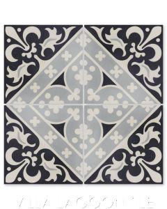 """Canterbury Three"" Victorian Cement Tile, from Villa Lagoon Tile."