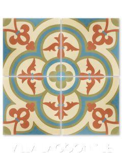 """Caprice June"" Bold Spanish Cement Tile, by Villa Lagoon Tile."