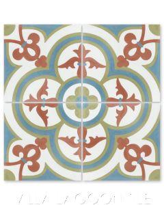 """Caprice Montana"" Bold Spanish Cement Tile, by Villa Lagoon Tile."