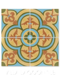 """Caprice Summer"" Bold Spanish Cement Tile, by Villa Lagoon Tile."