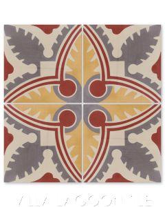 """Carlotta Primero"" Cuban Cement Tile, from Villa Lagoon Tile."