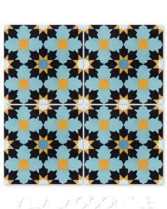 """""""Casablanca Primero"""" Moroccan Cement Tile, from Villa Lagoon Tile."""