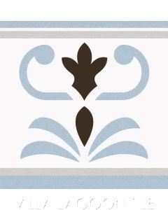 Valvanera Celeste Border Edge Ceramic Tile