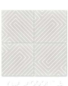 """Circuitry Dover"" Modern Geometric Cement Tile by Neyland Design, from Villa Lagoon Tile."