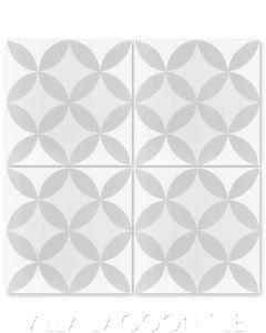 """Circulos A Fog"" Geometric Cement Tile, from Villa Lagoon Tile."