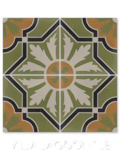 """Conga Autentico"" Cuban Cement Tile, from Villa Lagoon Tile."