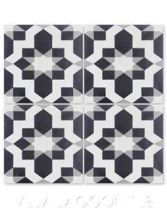 """""""Fez Sencillo"""" Moroccan Cement Tile, from Villa Lagoon Tile."""