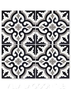 """Fiore C Sencillo"" Floral Cement Tile, from Villa Lagoon Tile."