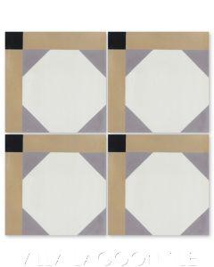 """Giovanni Venice"" Venice-Inspired Cement Tile, from Villa Lagoon Tile."