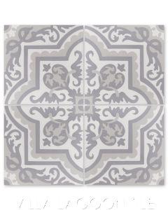 """""""Habanero Sencillo"""" Cuban Floral Cement Tile, from Villa Lagoon Tile."""