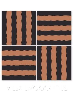 Haley Street Stripes Black & Terracotta