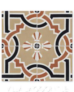 """Italian Trellis A Venice"" Coastal Cement Tile, by Villa Lagoon Tile."