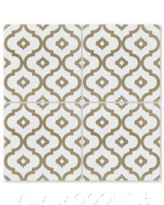 """Kasbah Bronze"" Moroccan Cement Tile, by Villa Lagoon Tile."