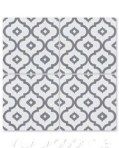 """Kasbah Excalibur"" Moroccan Cement Tile, by Villa Lagoon Tile."