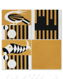"""Key West Hemmingway"", Cuban Art Deco Cement Tile, from Villa Lagoon Tile."