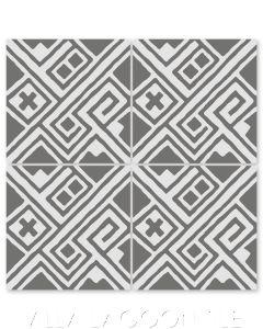 """""""Kuba Sencillo"""" Modern Fabric-Style Cement Tile by Neyland Design, from Villa Lagoon Tile."""