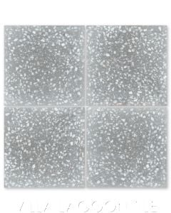 "Large ""Urbanite"" Terrazzo Cement Tile, with White Marble chips, from Villa Lagoon Tile."