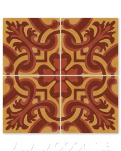 """""""Madeira Hearts Ablaze"""" Traditional-Style Cement  Tile, by Villa Lagoon Tile."""