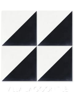 """Man Overboard Black & White"" Geometric Cement Tile, from Villa Lagoon Tile."