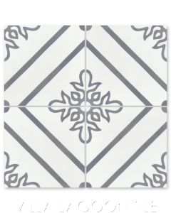 """""""Marbella Seagull"""" Floral Cement Tile, from Villa Lagoon Tile."""