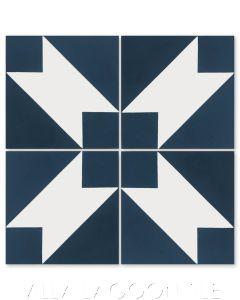 """Naples Aegean"" Modern Geometric Cement Tile by Dekar Design, from Villa Lagoon Tile."