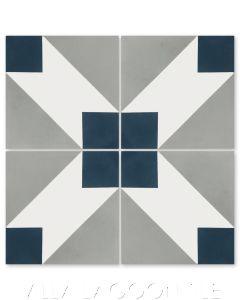 """""""Naples Nautique"""" Modern Geometric Cement Tile by Dekar Design, from Villa Lagoon Tile."""
