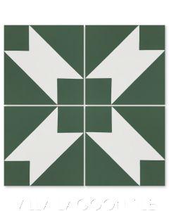 """Naples Rainforest"" Modern Geometric Cement Tile by Dekar Design, from Villa Lagoon Tile."