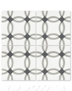 """Omni Petite Sencillo"" Geometric Cement Tile, from Villa Lagoon Tile."