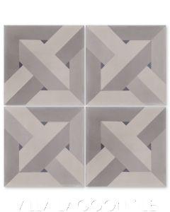 """""""Parquet Primero"""" Geometric Mosaic Cement Tile, by Villa Lagoon Tile."""