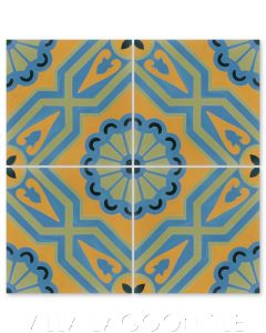 """""""Provincial Summer"""" Traditional-Style Cement Tile, by Villa Lagoon Tile."""