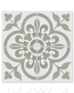 """""""Raylen A Sencillo"""" French Cement Tile, from Villa Lagoon Tile."""