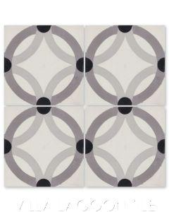 """Rings Durango"" Geometric Cement Tile, by Villa Lagoon Tile."