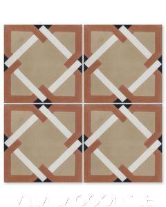 """""""Rocca Venice"""" Geometric Mosaic Cement Tile, by Villa Lagoon Tile."""