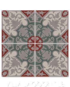 """Rumba Autentico"" Cuban Floral Cement Tile, from Villa Lagoon Tile."