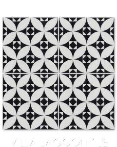 """Saint Mark's Black and White Morning"" Venetian Mosaic Cement Tile, from Villa Lagoon Tile."